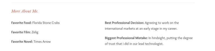 פרטים על אודותיו של בידרמן מאחד האתרים שלו (מתוך אתר http://fusion.net/)